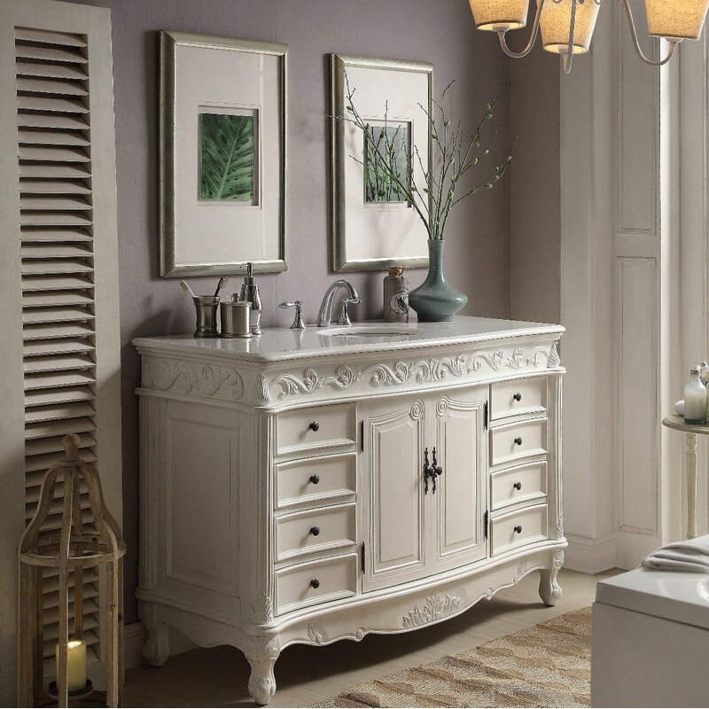 One Allium Way Conradine 56 Single Bathroom Vanity Set Reviews Wayfair