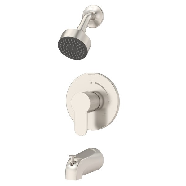 Identity Tub and Shower Faucet Trim Kit Metal Lever Handle by Symmons