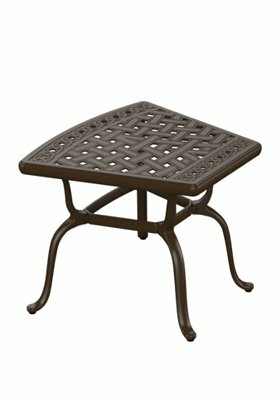Garden Terrace Cast Aluminum Side Table by Tropitone