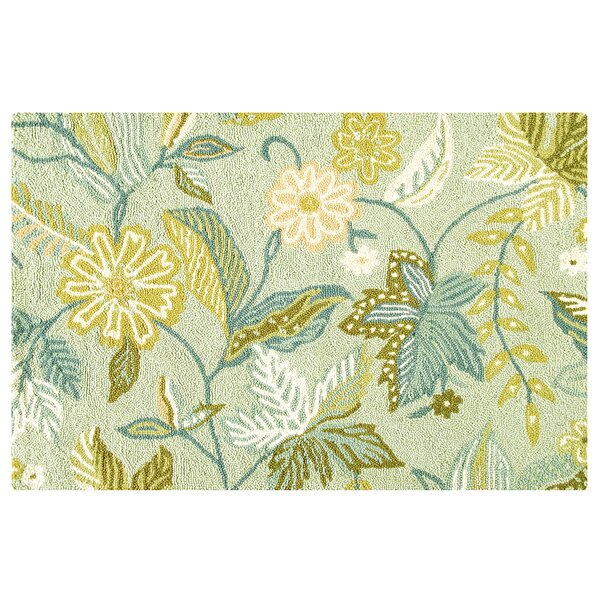 Horatio Wool Green Area Rug by Winston Porter
