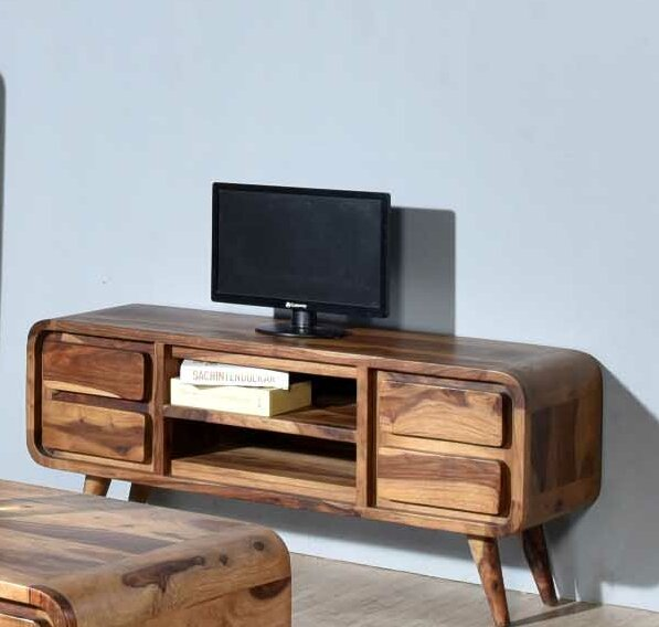 Oquendo Solid Wood TV Stand For TVs Up To 55