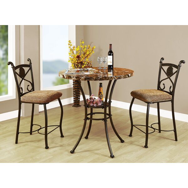 Mira Kleef 3 Piece Counter Height Bistro Set by A&J Homes Studio