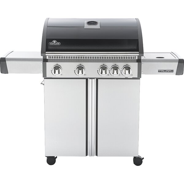 Triumph 5-Burner Propane Gas Grill with Cabinet by