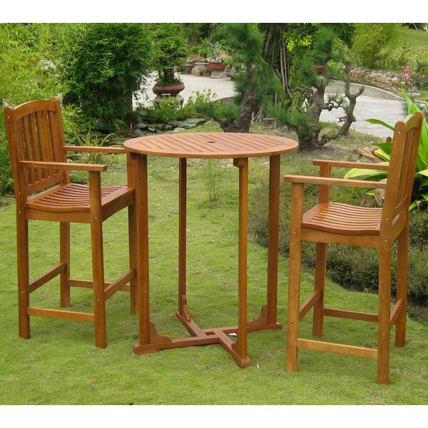 Sabbattus 3 Piece Bar Height Dining Set by Breakwater Bay