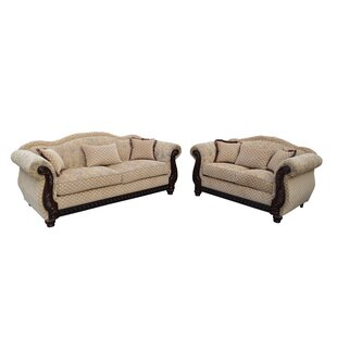 New England 2 Piece Living Room Set. By Gardena Sofa