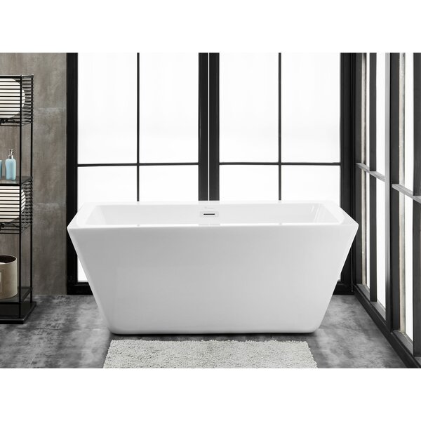 Ravenna 60 L x 28 W Freestanding Soaking Bathtub by Finesse