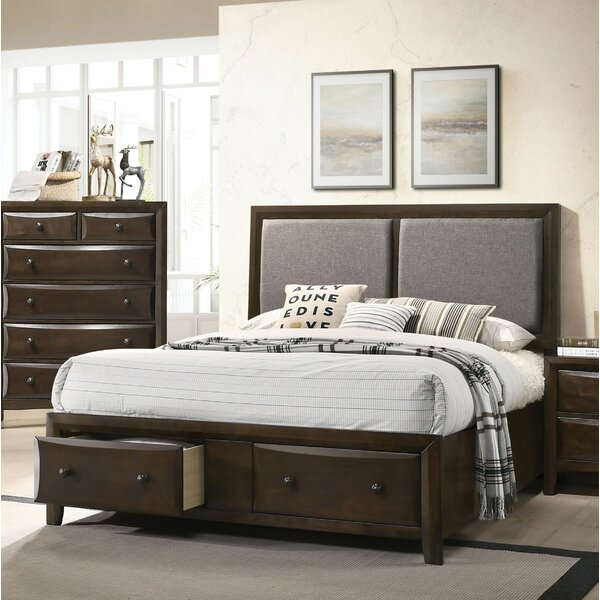 Meryl Upholstered Storage Platform Bed by Charlton Home