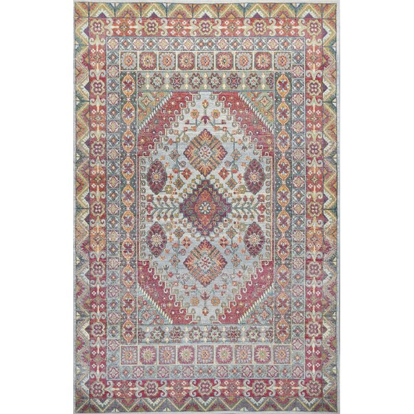 Cruise Red/Green Area Rug by Bungalow Rose
