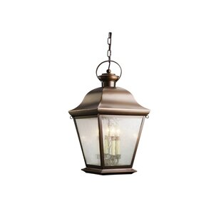 Comparison Darrah 4-Light Glass Shade Outdoor Hanging Lantern By Three Posts