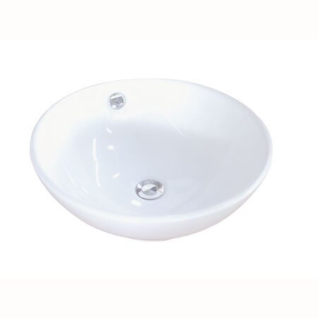 Perfection Ceramic Circular Vessel Bathroom Sink with Overflow by Kingston Brass