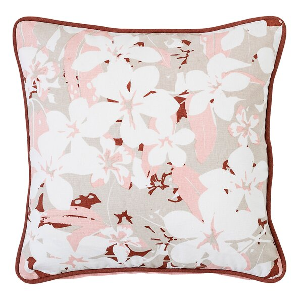 Carrollwood Floral Cotton Throw Pillow by Bay Isle Home