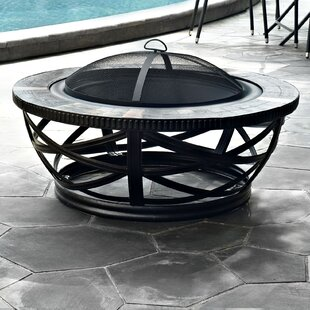 Best Price Glendale Steel Wood Burning Fire Pit Table By Crosley