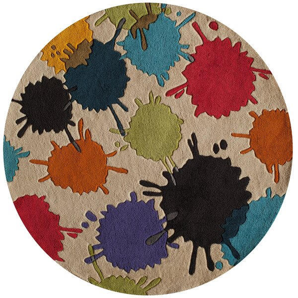Felicia Hand-Tufted Brown/Blue Kids Rug by Viv + Rae