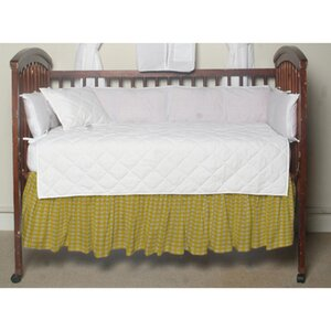 Gingham Checks Fabric Crib Dust Ruffle