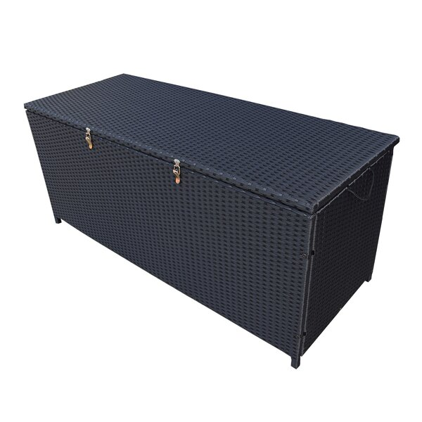 Indoor and Outdoor 113 Gallon Wicker Deck Box by Oakland Living Oakland Living