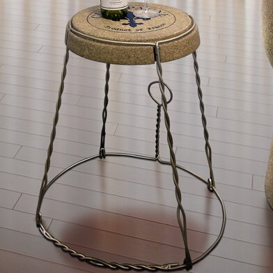 Champagne End Table by Vinotemp