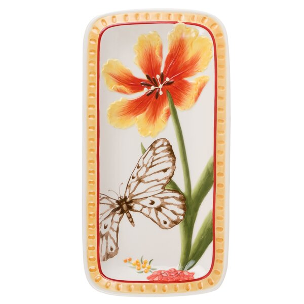 Flower Market Elongated Serving Tray by Fitz and Floyd