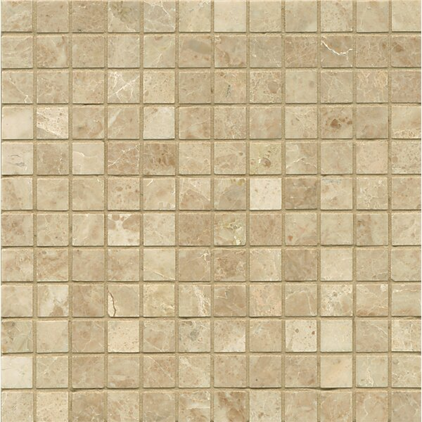 1 x 1 Marble MosaicTile in Cappuccino by Grayson Martin
