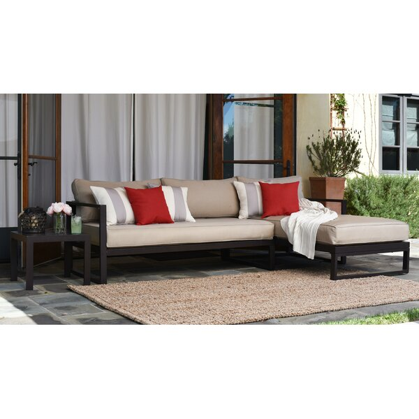 Catalina Outdoor Right Arm Sectional Piece with Cushions by Serta at Home