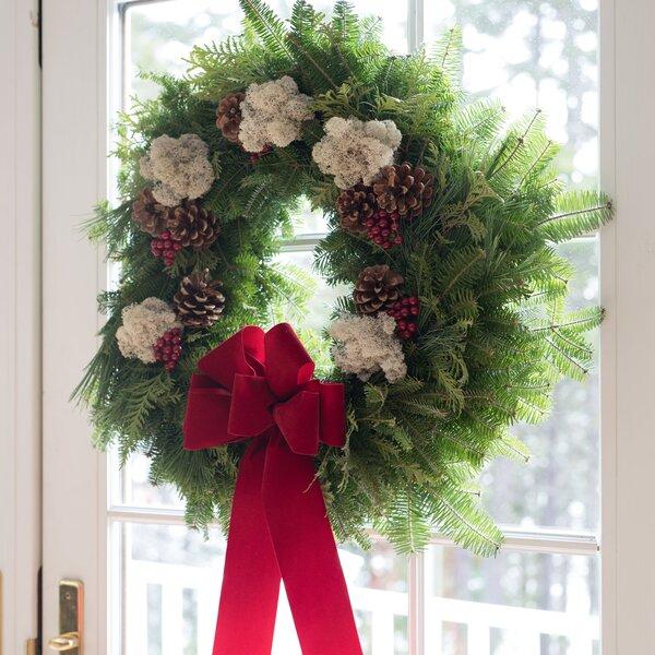 22 Fresh Winterberry Christmas Wreath by Harbor Farm