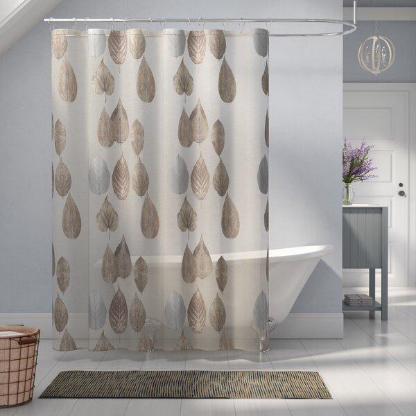 Pick City Gossamer Leaf Shower Curtain by Laurel Foundry Modern Farmhouse