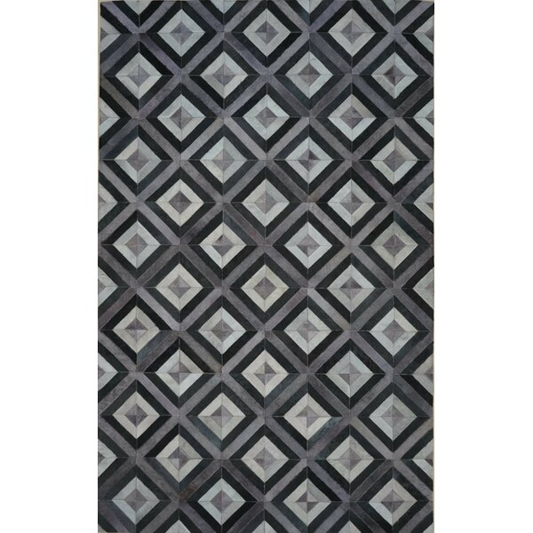 One-of-a-Kind Norborne 10 x 14 Cowhide Gray/Black Area Rug by Isabelline
