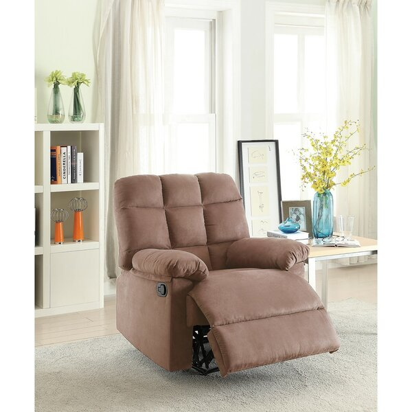 Conyers Tufted Back and Roll Arms Plush Cushioned Manual Recliner by Winston Porter