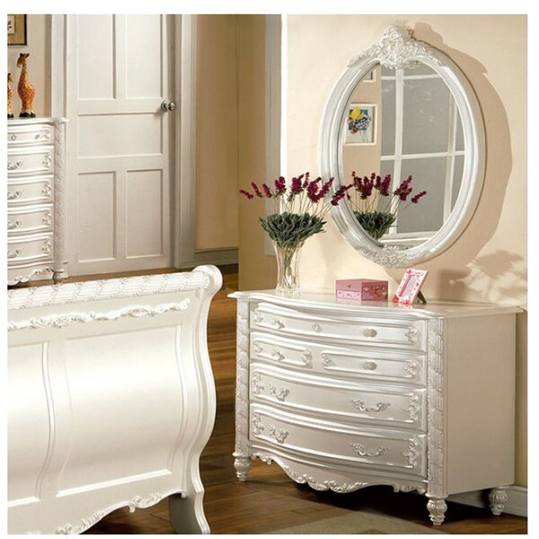 Citlali 4 Drawer Dresser with Mirror by House of Hampton