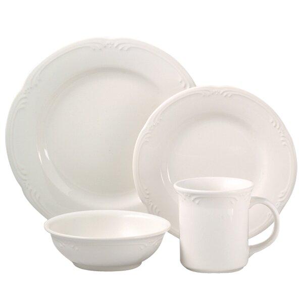 Filigree 16 Piece Dinnerware Set, Service for 4 by Pfaltzgraff
