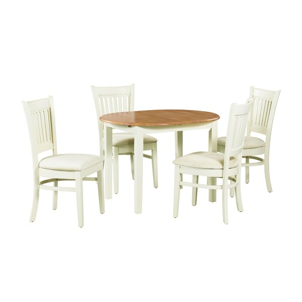 Shippy 5 Piece Extendable Solid Wood Dining Set by August Grove