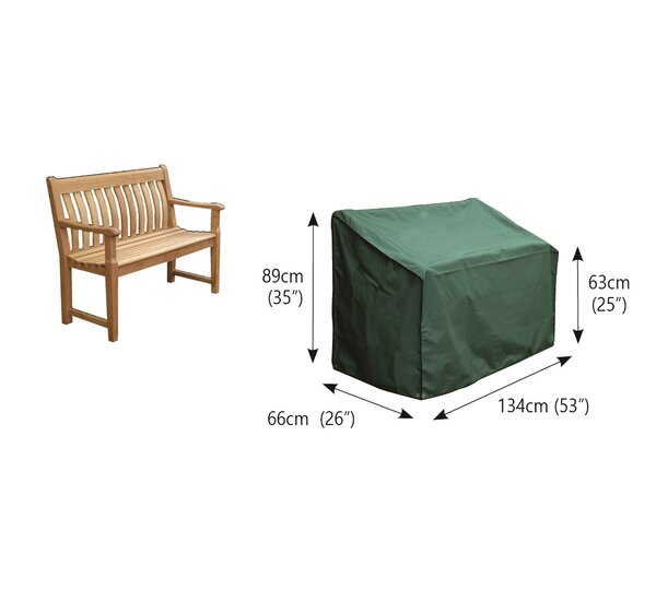 2-Seater Water Resistant Patio Bench Cover by Freeport Park