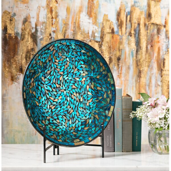 Traditional Mosaic Charger and Stand by World Mena