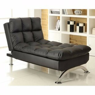 Middleville Leather Chaise Lounge