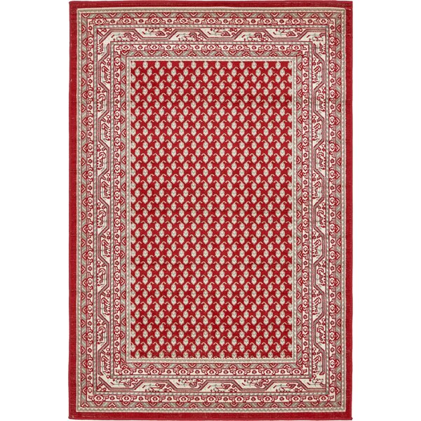 Gillam Red Area Rug by Three Posts
