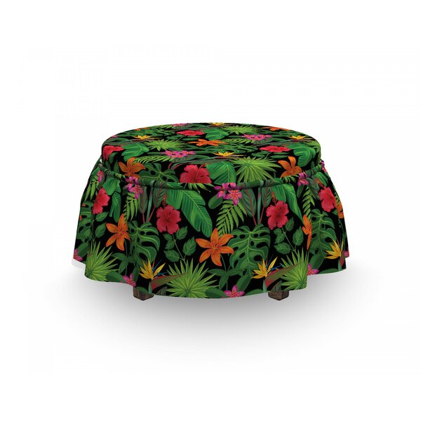 Summer Foliage Ottoman Slipcover (Set Of 2) By East Urban Home