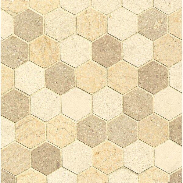 2 x 2 Limestone Mosaic Tile in Beige by Bedrosians