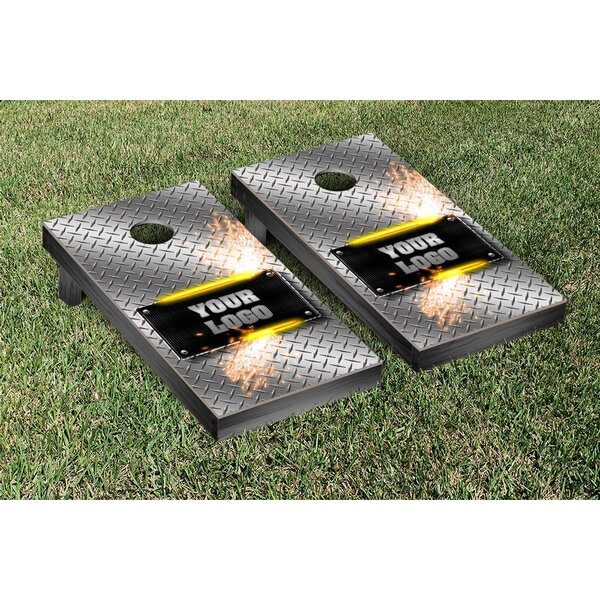 Metalworks Diamond Plate Cornhole Game Set by Victory Tailgate