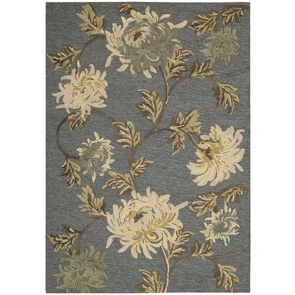 Lymon Hand-Tufted Blue/Ivory Area Rug by Alcott Hill