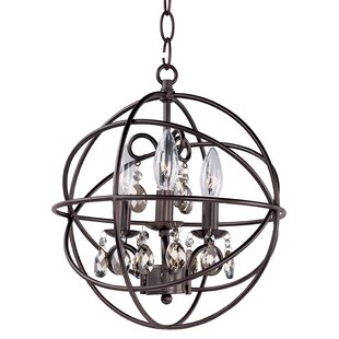 Best Reviews Alden 3-Light Globe Chandelier By Willa Arlo Interiors
