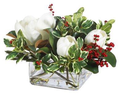 Magnolia Berry Rectangular Centerpiece by Gracie Oaks