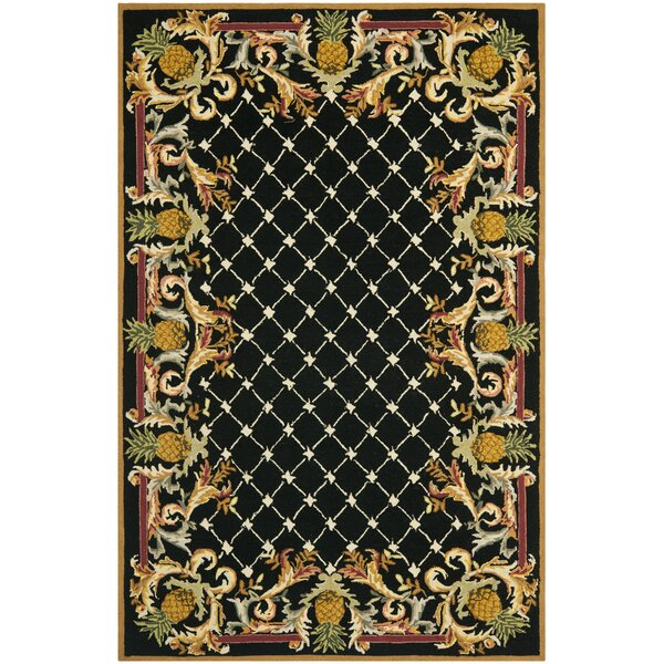 Hogle Black/Multi Pineapple Rug by Bay Isle Home