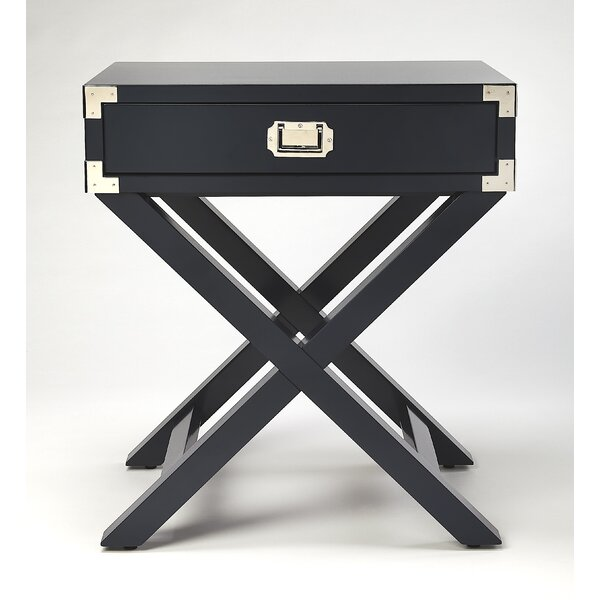 Wimborne End Table with Storage by Everly Quinn