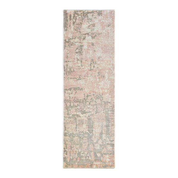 Blush Hand Knotted Pink Rug