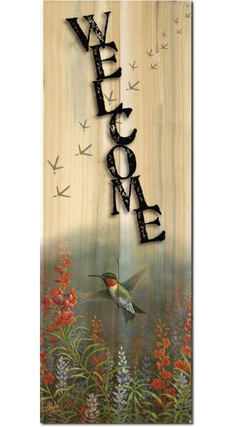 Welcome Summer Hummer Graphic Art Plaque by WGI-GALLERY