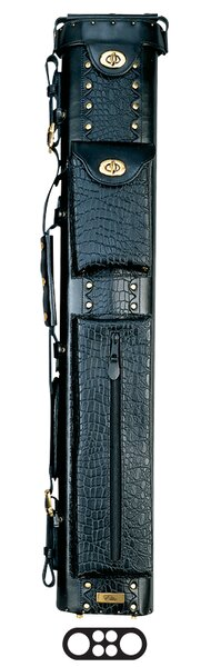 34 2 Butt and 4 Shaft Oval Hard Pool Cue Case by Elite