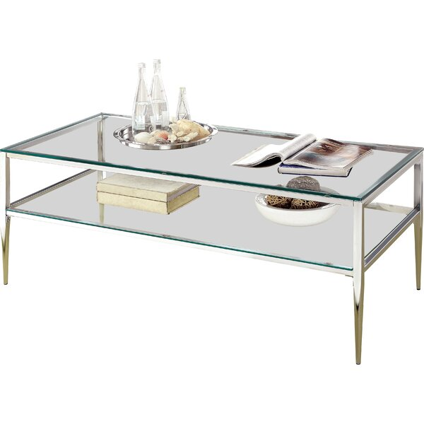 Rahil Open Shelf Coffee Table by Willa Arlo Interiors