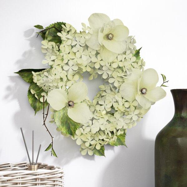 20 Magnolia and Hydrangea Wreath by One Allium Way