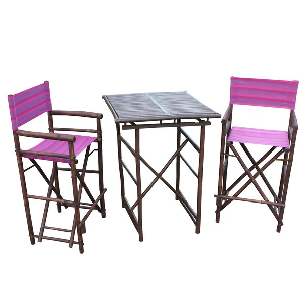 Sergios 3 Piece Bar Height Dining Set by Bay Isle Home
