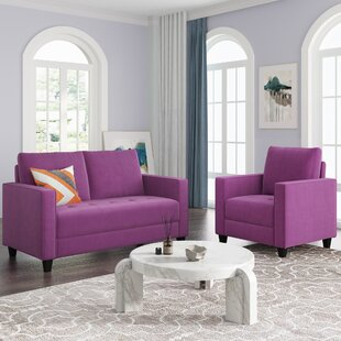 2 Piece Upholstered Armchair And Loveseat Set by Latitude Run®