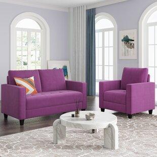Grey Sectional Sofa Set(1+2 Seat) by Latitude Run®